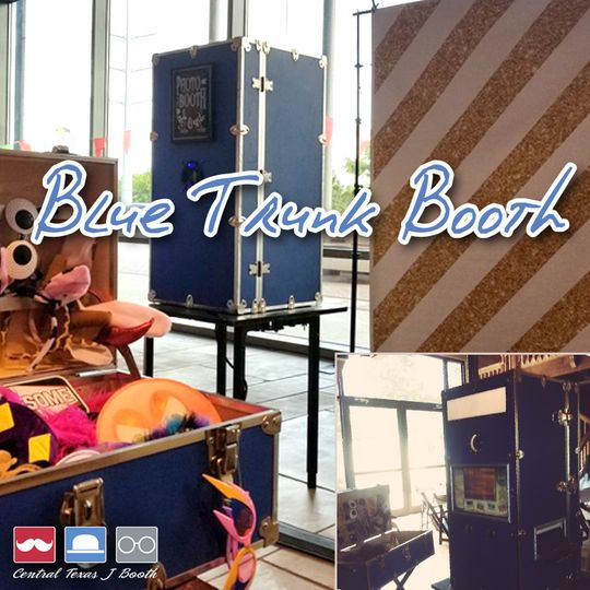 Open Blue Trunk Booth