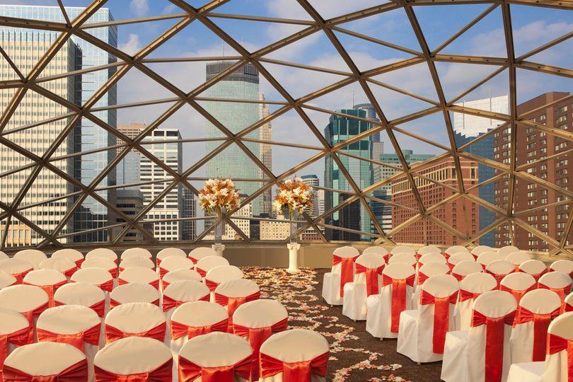 Ceremony set in Dome