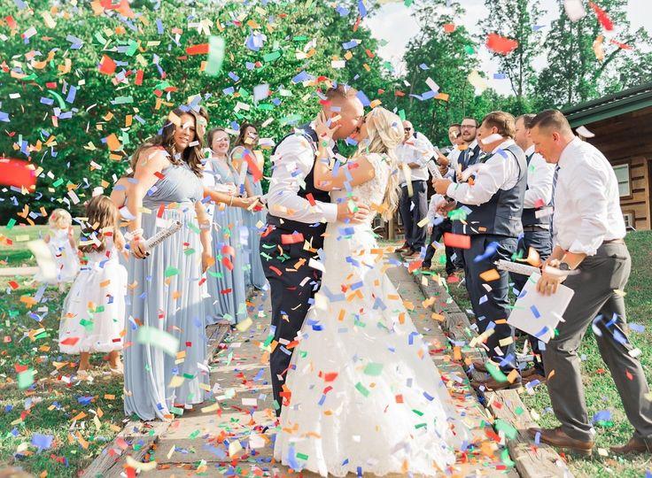 Vibrant confetti colors