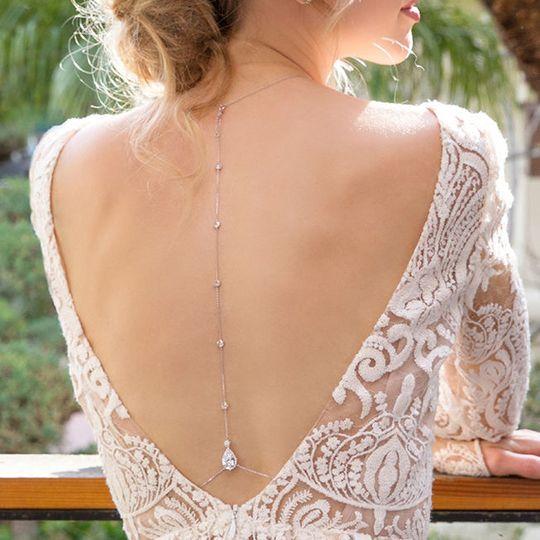 Margaux CZ Back Pendant Necklace