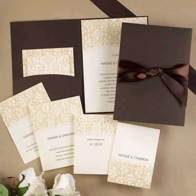 Tmx 1333987489798 RegalMocha Minnetonka, MN wedding invitation