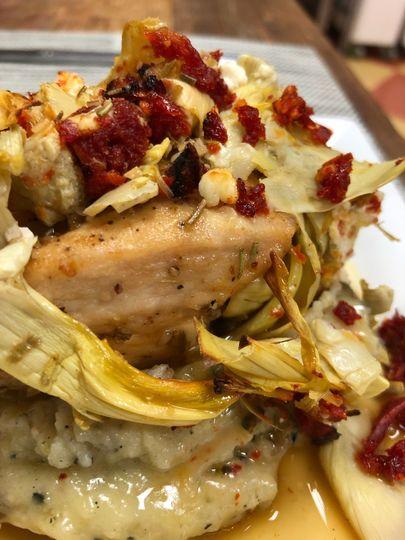 Artichoke Crusted Chicken