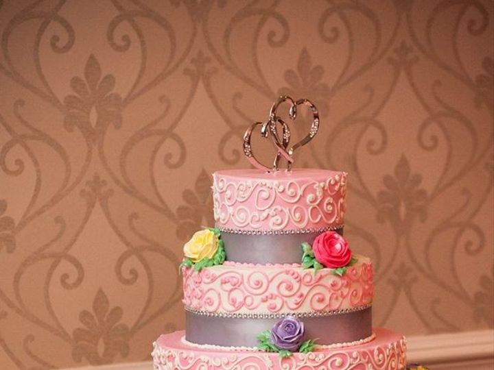 Tmx 1397735909125 Wedding Wire Pink Swir Belmar, New Jersey wedding cake