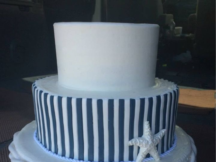 Tmx 1459908501818 All Fondant Nautical Stripe And Rope Belmar, New Jersey wedding cake