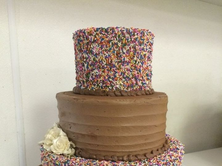 Tmx 1459908520748 Alternating Fudge And Sprinkles Belmar, New Jersey wedding cake