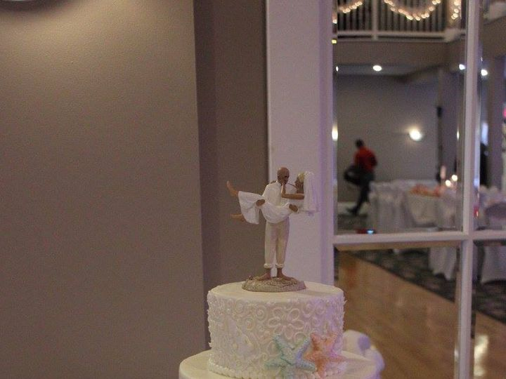 Tmx 1459908538589 Coral And Blue With Starfish Belmar, New Jersey wedding cake
