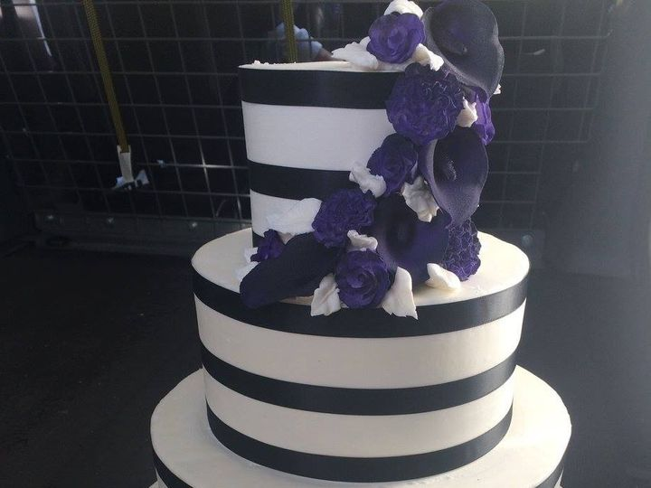 Tmx 1459908545528 Elegant Stipes Belmar, New Jersey wedding cake