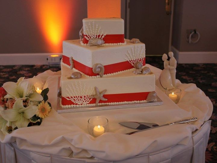 Tmx 1459908611709 Offset Squares Coral And Shells Belmar, New Jersey wedding cake