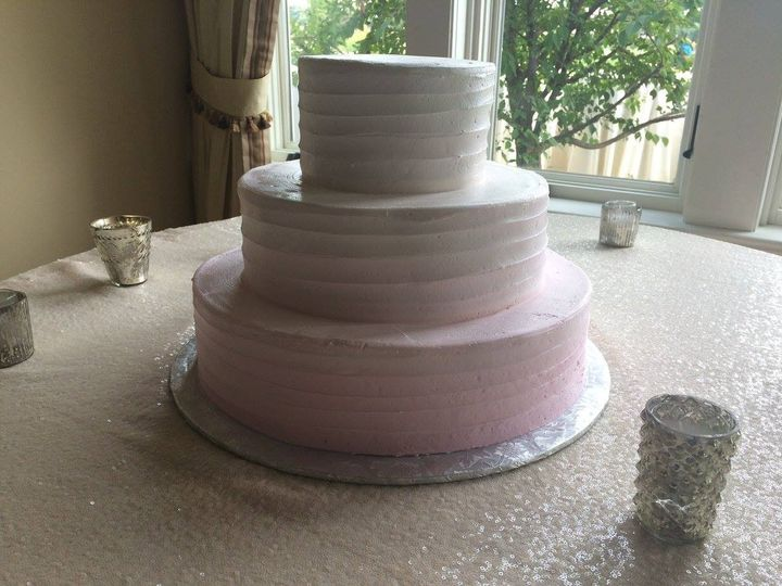 Tmx 1459908627369 Pink To White Ombre Lined Texture Belmar, New Jersey wedding cake