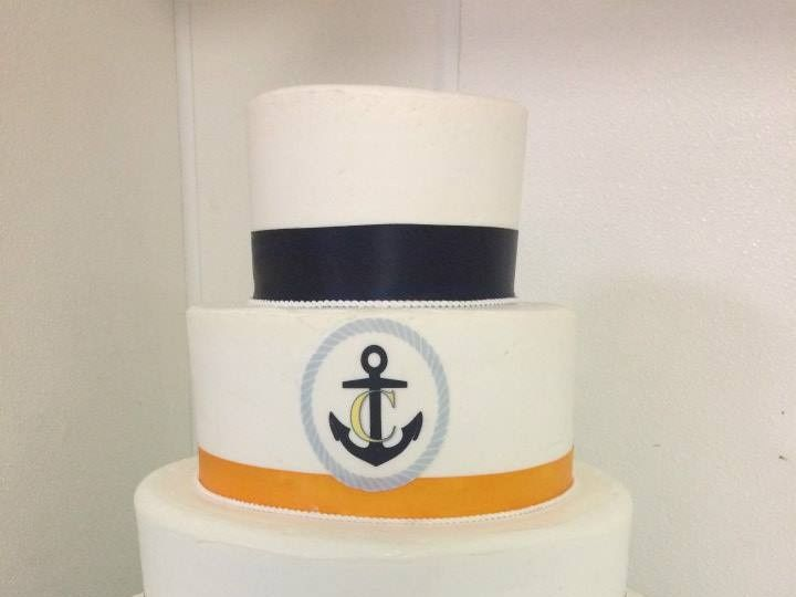 Tmx 1459908644777 Round Nautical Belmar, New Jersey wedding cake