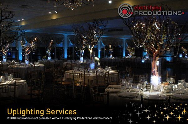 Electrifying Productions uplighting services.