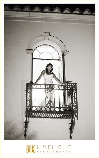 Bride on a Balcony