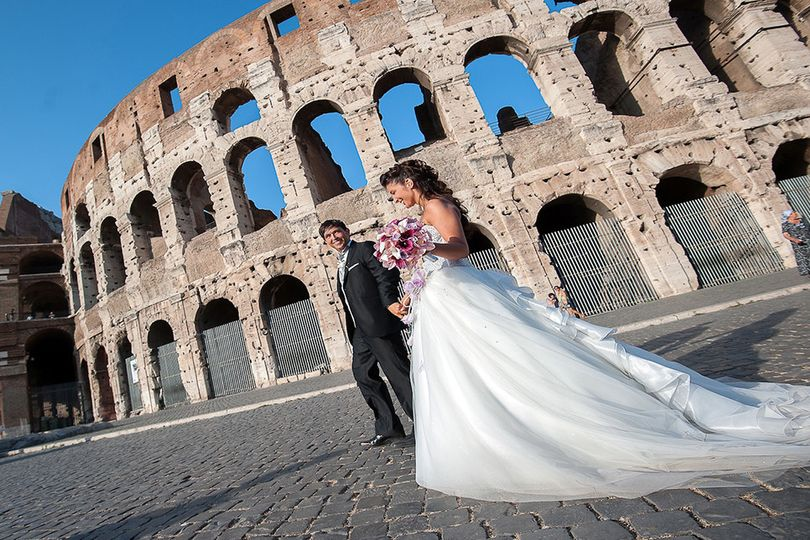 By the Colosseum in Rome
