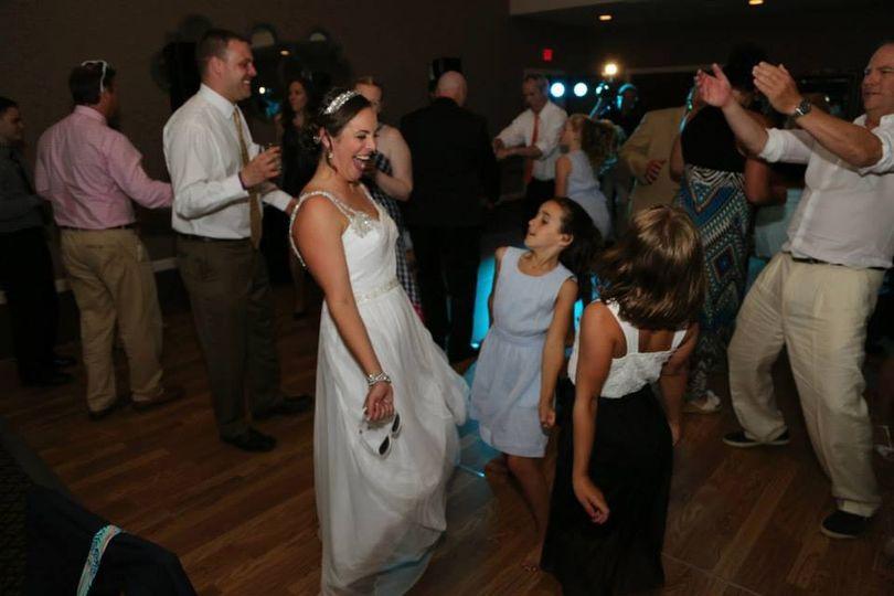 Bride dancing all night