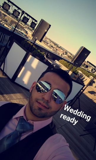 Roof top wedding setup