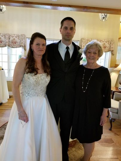 The happy couple and me