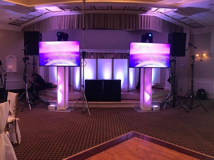 TV screens setup w/LED facade