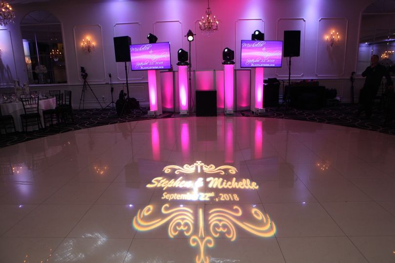 Sound screens lights and gobo