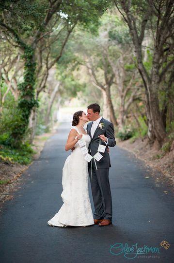Outdoor spring wedding in California