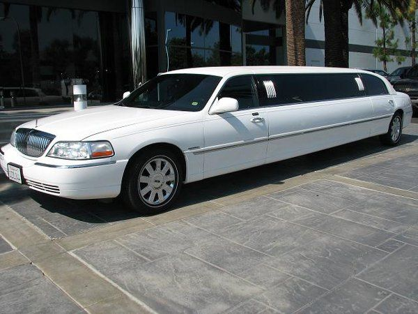 Classic white limo