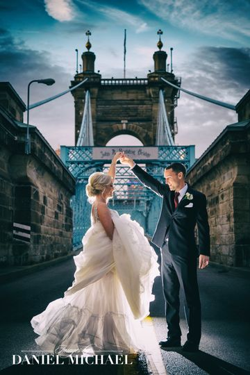 Roebling Bridge Wedding Photo
