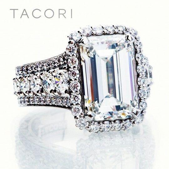 Charleston Alexander Jewelers Falls Church Virginia Tacori Emerald Cut Engagement Rings
