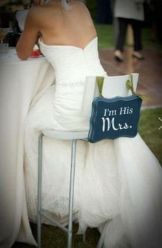 After you've been married, what better way to show off your new status than by adding seating signs...