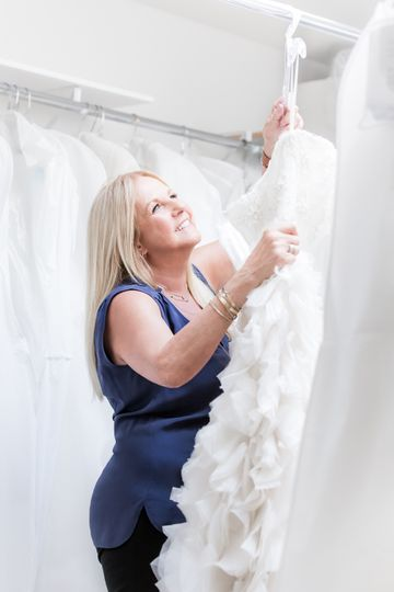 Getting our gowns ready for pick up, love our brides!