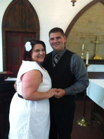 A Wedding With Rev Schulte.  https://www.facebook.com/AWeddingWithRevSchulte Eloped April 2013