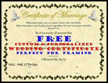 wedding certificate psd for web