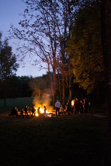 A gorgeous fall evening capped off with a bonfire.