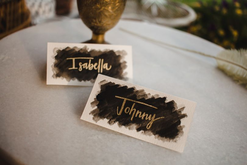 Moody place cards