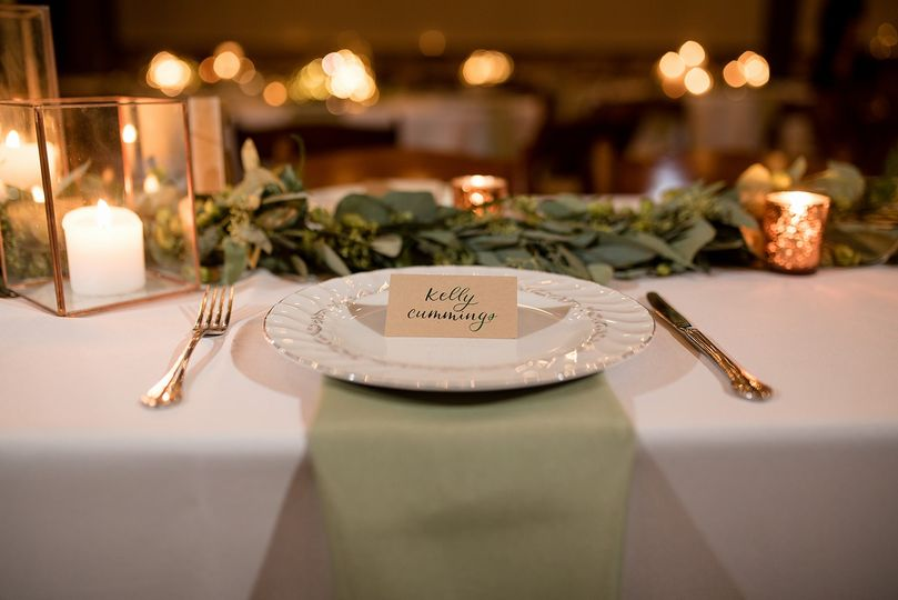 Place cards with custom ink