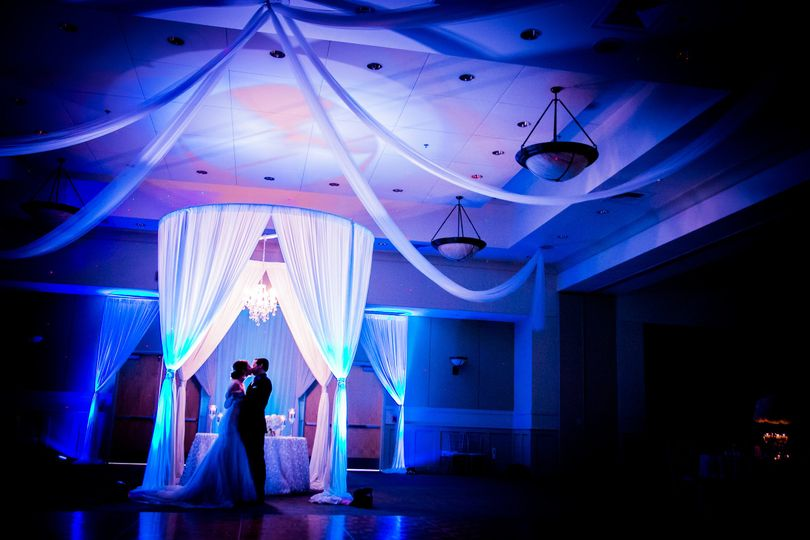 Intimate moment in the reception hall before all the guests arrive allow you to have a moment in...