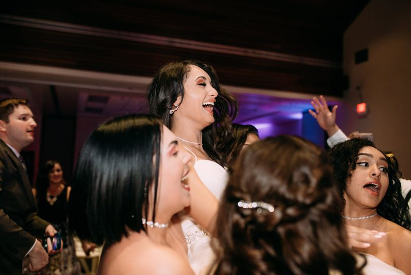 Brides up in the air laughing like they just don't care - and we love it!