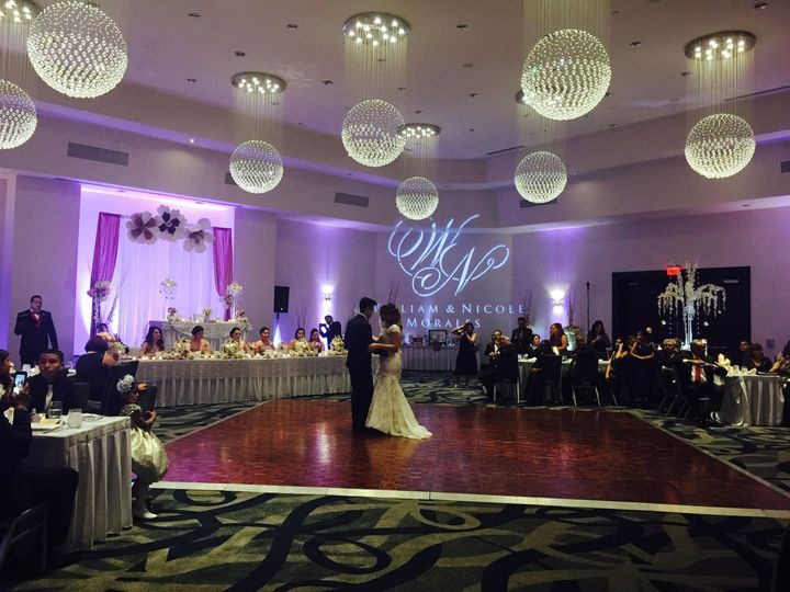Have your first dance surrounded by romantic lighting