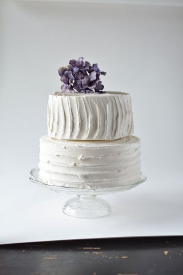 Textured Cake with Puple