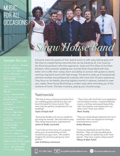 Shaw House Band One Sheet