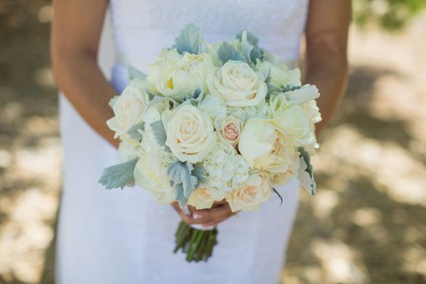 Vintage inspired bridal bouquet.