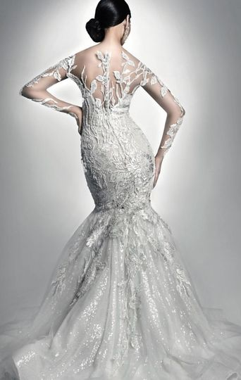 Mermaid tail lace dress