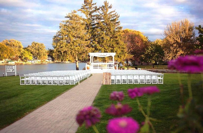 Outdoor wedding venue