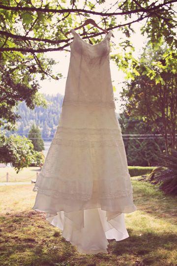 White dress in the sun
