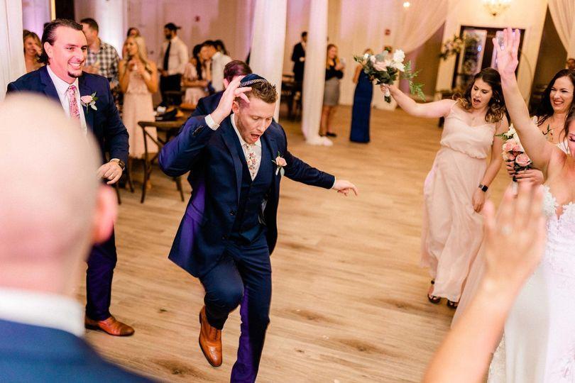 Dancing in the ballroom