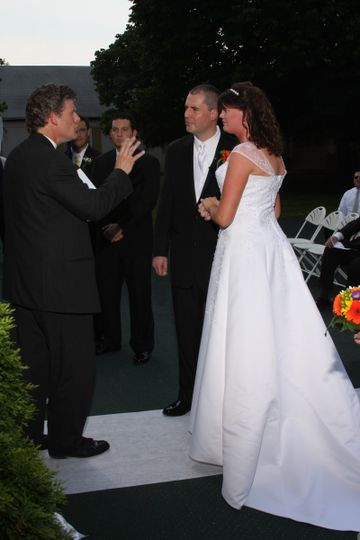 Officiating the wedding
