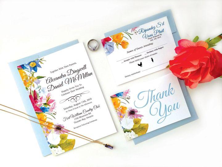Wildflower Wedding Invites