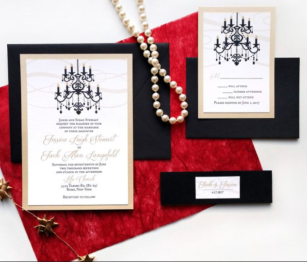Black Tie Wedding Invites