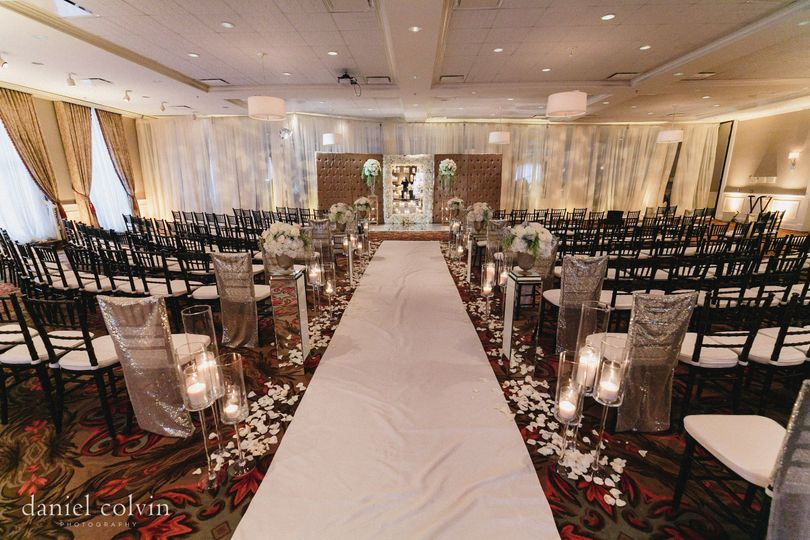 The Tremont Ballroom can be separated to host the ceremony on one side and reception on the other....