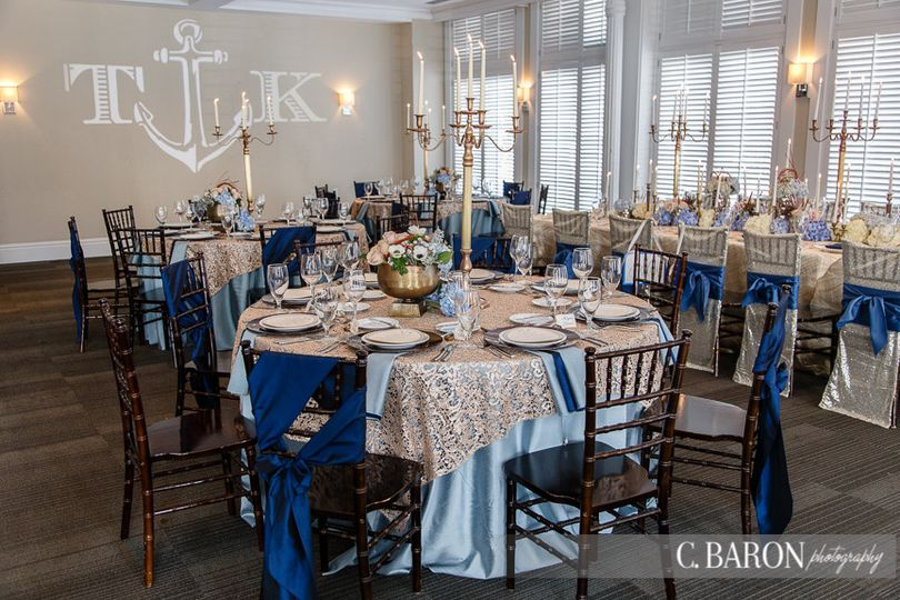 The Tremont House' Sam Houston Room is a charming room for receptions. Photo by C Baron Photography.