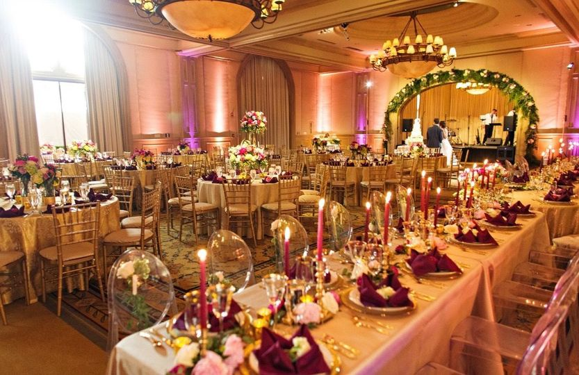 Head table and reception