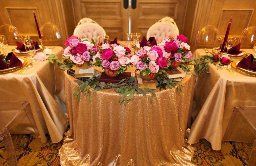 A beautiful sweetheart table